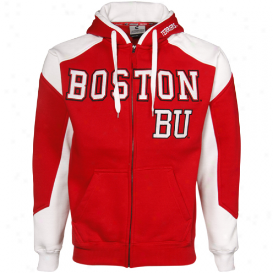 Boston Terriers Red-white Challenger Full Zip Hoody Sweatshirt