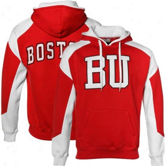 Boston Terriers Scarlet-white Challenger Hoody Sweatshirt