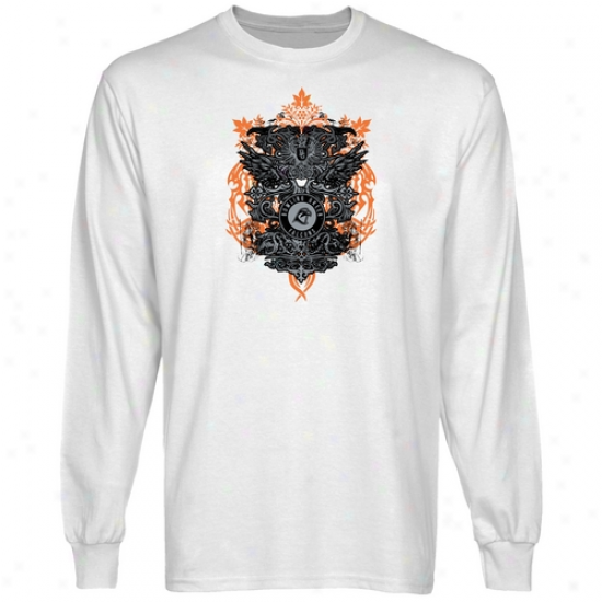 Bowling Green St. Falcons White Shield Of War Long Sleeve T-shirt