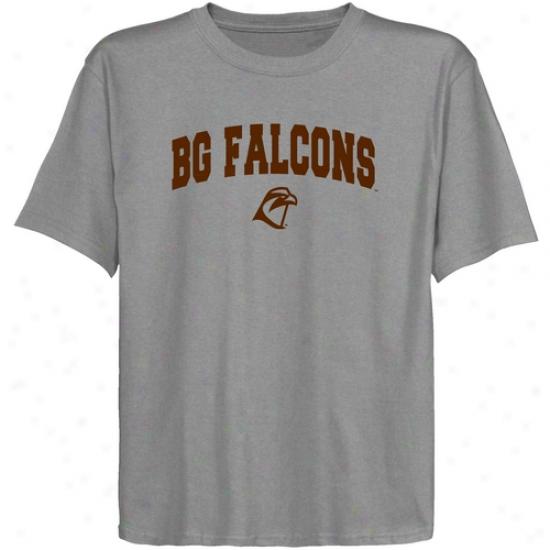 Bowling Green St. Falcon Juvenility Ash Logo Arch T-shirt