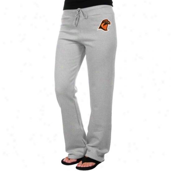 Bowling Green State Falcons Ladies Ash Logo Applique Saeatpant