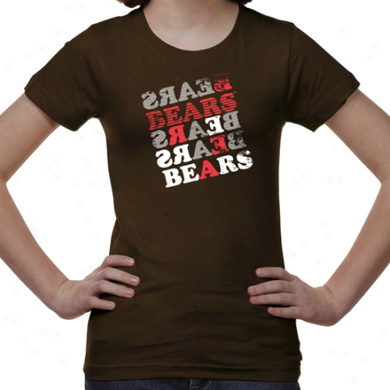 Brown eBrs Youth Girls Crossword T-shirt - Brown