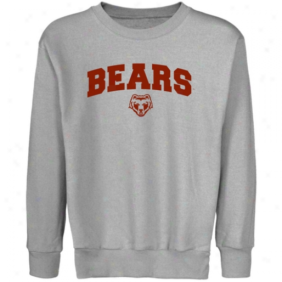 Brown Bears Youth Steel Logo Arch Crew Neck Fleece Sweatshirt