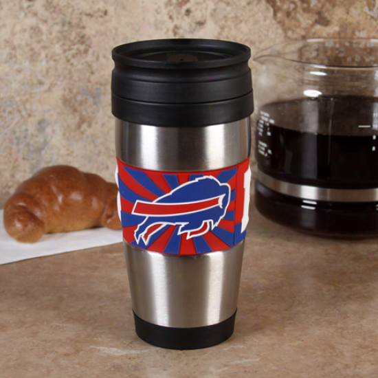 Buffalo Bills 15oz. Stainless Steel & Pvc Travel Tumbler