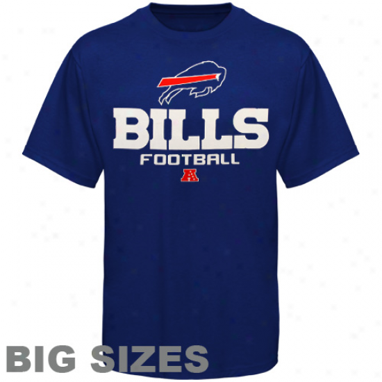 Buffalo Bills BigS izes Critical Victory V T-shirt - Royal Blue
