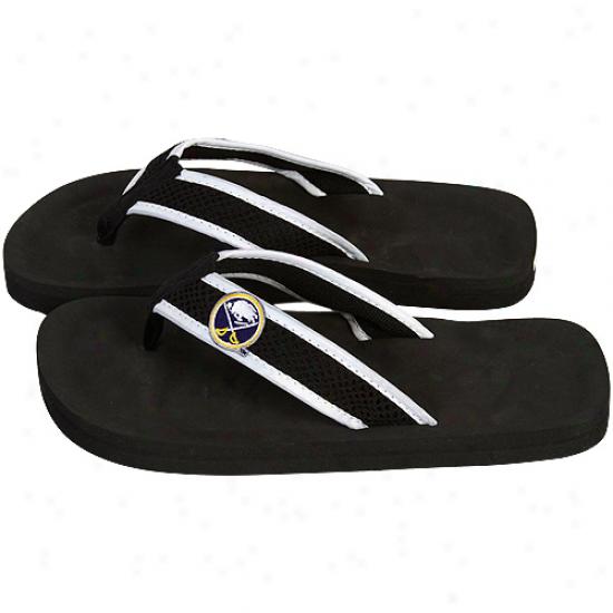 Buffalo Sabres Unisex Basic Flip Flop - Black