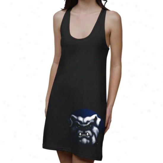 Butler Bulldogs Ladies Blackout Junior's Racerhack Dress - Black