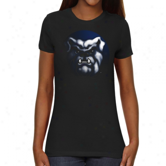 Butler Bulldogs Ladies Blackout Slim Fit T-shirt - Black
