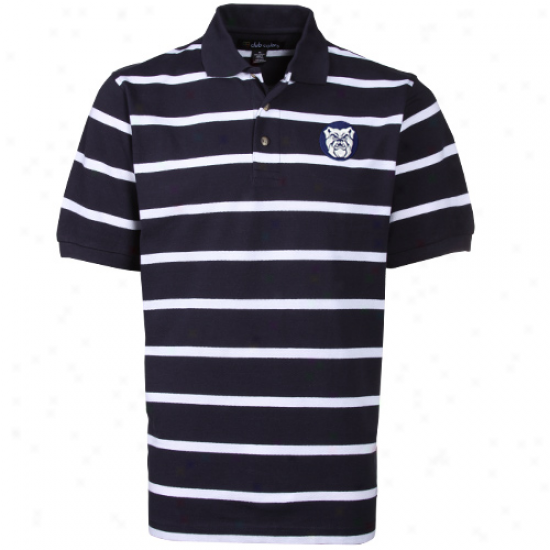 Butler Bulldogs Navy Blue-white Kenneth Stfipe Polo