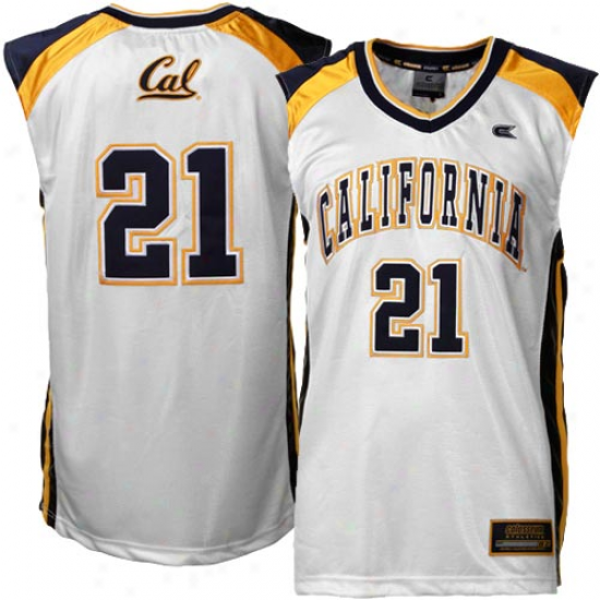 Cal Bears #21 Rebound Basketball Jersey-white
