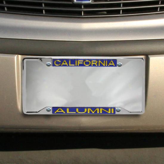 Cal Bears Alumni Chrome License Plate Frame