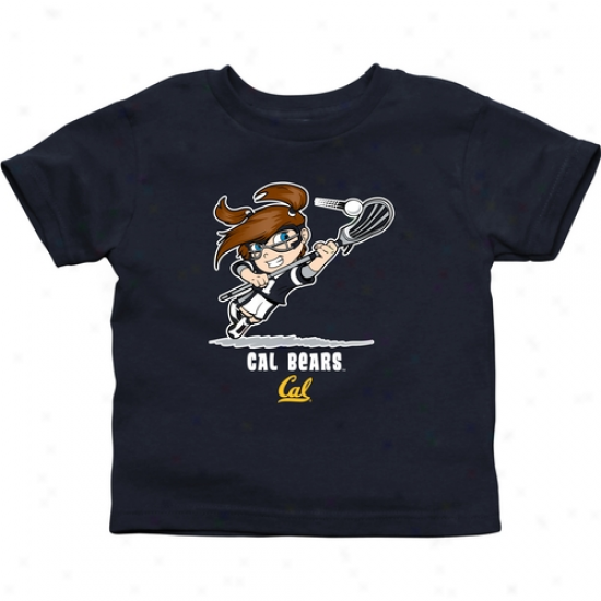Cal Bears Infant Girls Ladrosse T-shirt - Ships Blue