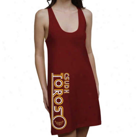 Cal State Dominguez Hills Toros Ladies Retro Junior's Racerback Dress - Principal