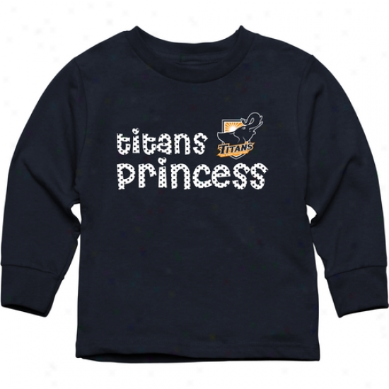 Cal State Fullerton Titans Toddler Princess Long Sleeve T-shirt - Navy Blue
