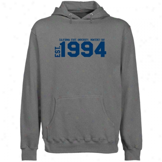 Cal State Monterey Bay Otters Gunmetal Est. Date Lightweight Pullover Hoody