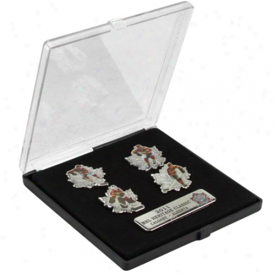 Calgary Flames 2011 Nhl Heritage Classic 5-pack Pin Set