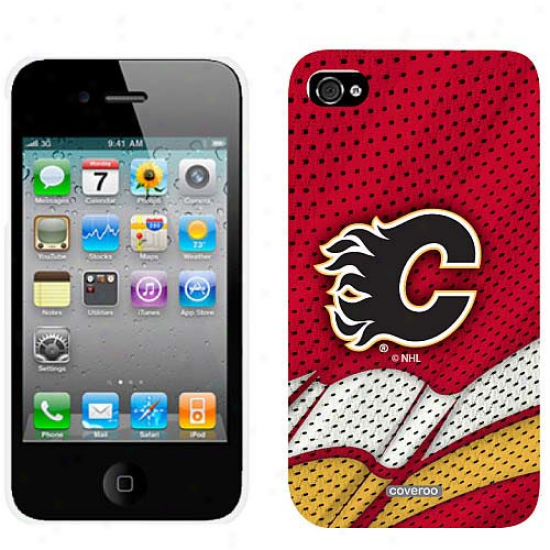 Calgary Flames Home Jersey Iphone 4 Suit