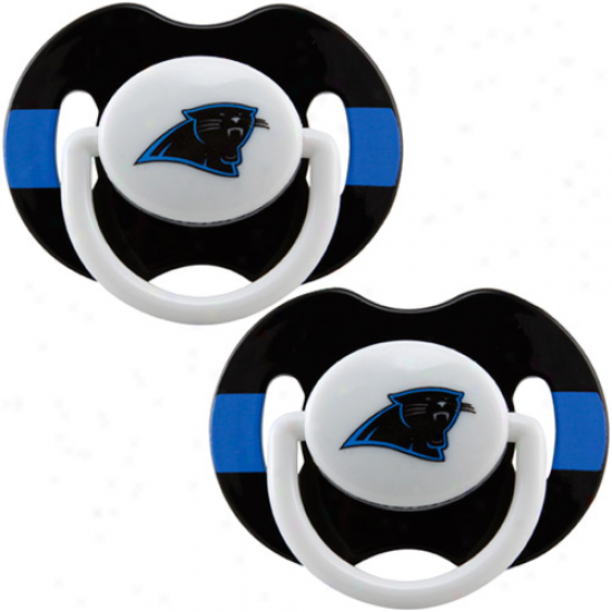 Carolina Panthers 2-pack Team Logo Pacifiers