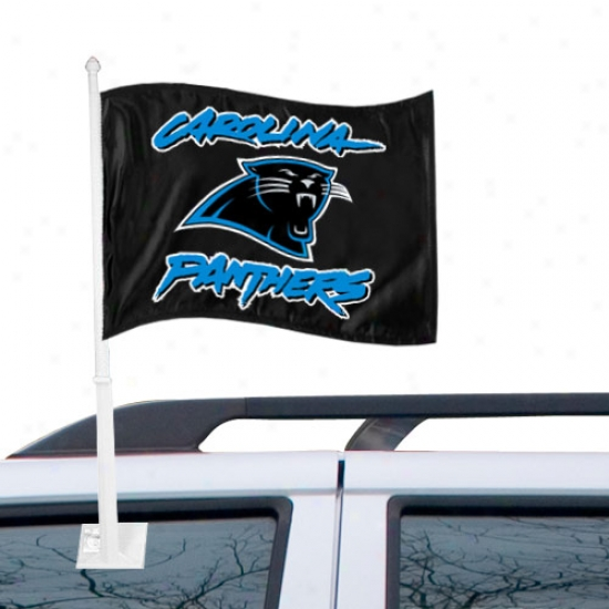Carolina Panthers Black Team Car Flag