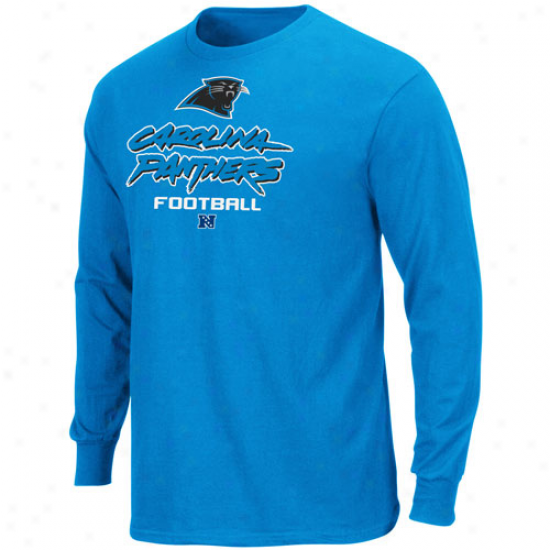 Carolina Panthers Critical Victory V Long Sleeve T-shirt - Panther Blue