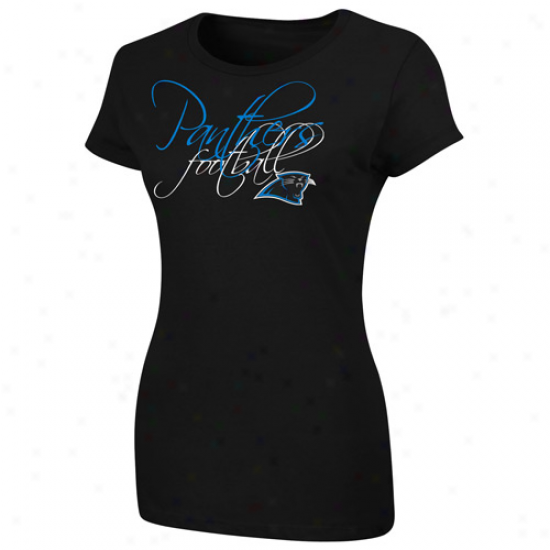 Carolina Panthers Ladies Franchise Fit Ii T-shirt - Blsck