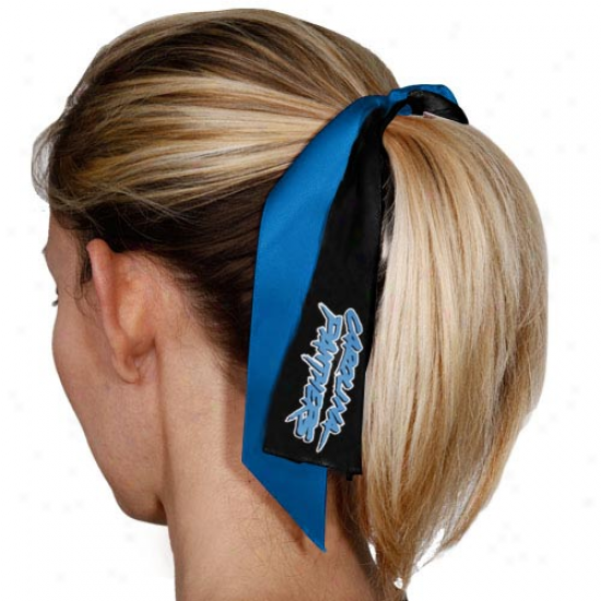 Carolina Panthers Streamer Ponytail Holder