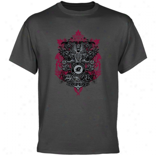 Cent. Michgian Chippewas Charxoal Shield Of Arms T-shirt