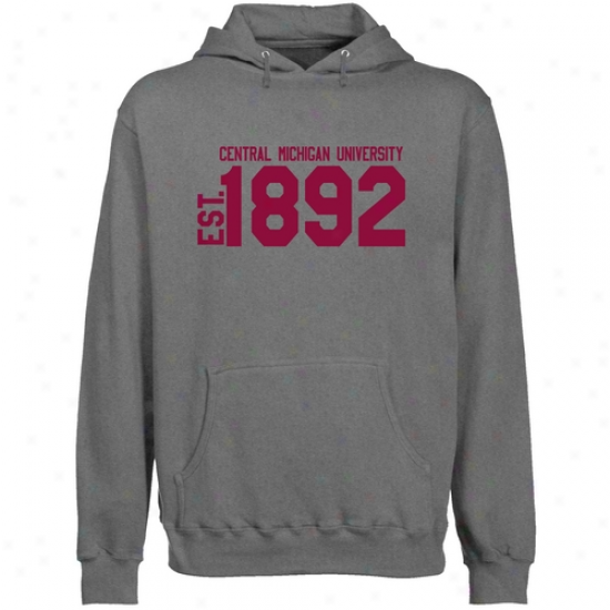 Cent. Michigan Chippewas Gunmetal Est. Date Lightweight Pullover Hoody