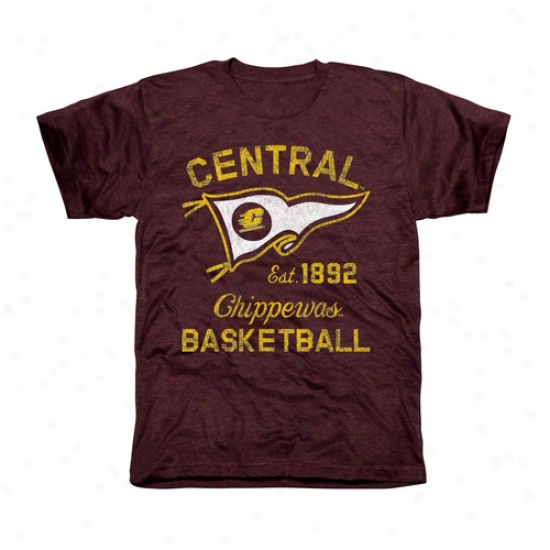 Central Michigan Chippewas Pennant Sport Tri-blend T-shirt - Marion