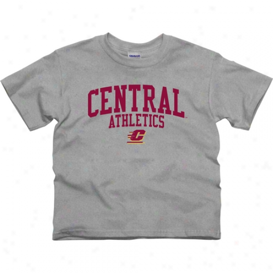 Central Michigan Chippewas Youth Athletics T-shirt - Ash