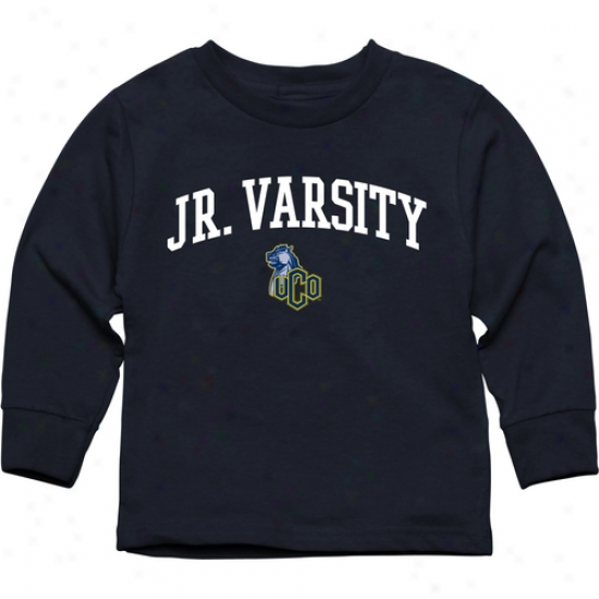 Central Oklahoma Bronchos Toddler Jr. Varsity Long Sleeve T-shirt - Navy Blue