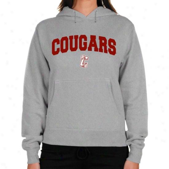 Charleston Cougars Ladies Ash Logo Arch Lightweight Hoody