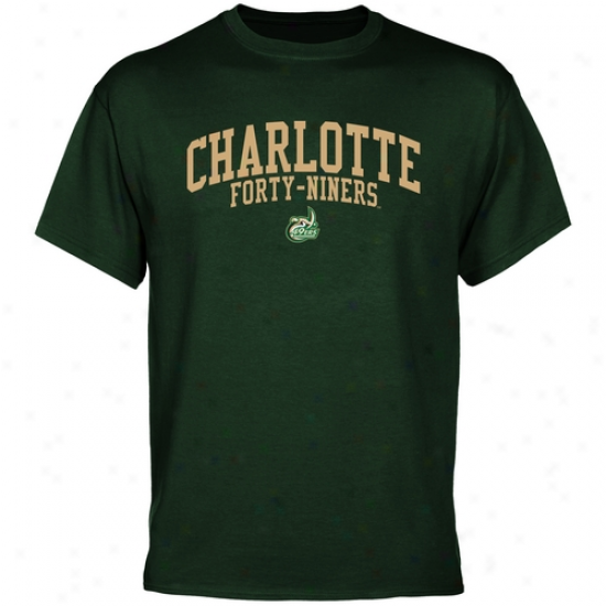 Charlotte 49ers Team Arch T-shirt - Green