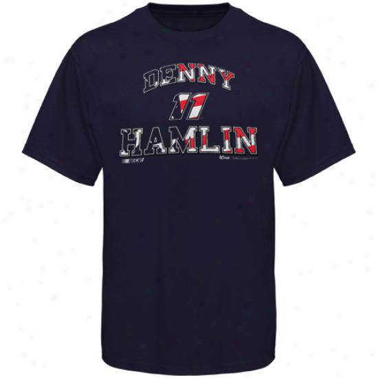 Chase Authentics Denny Hamlin Americana T-shirt - Navy Blue