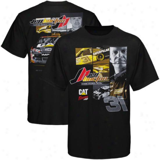 Chase Authentics Jeff Burton Driver T-shirt - Black