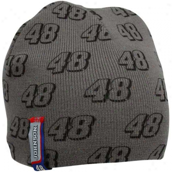 Pursuit Authentics Jimmie Johnson Youth Charcal Knit Beanie
