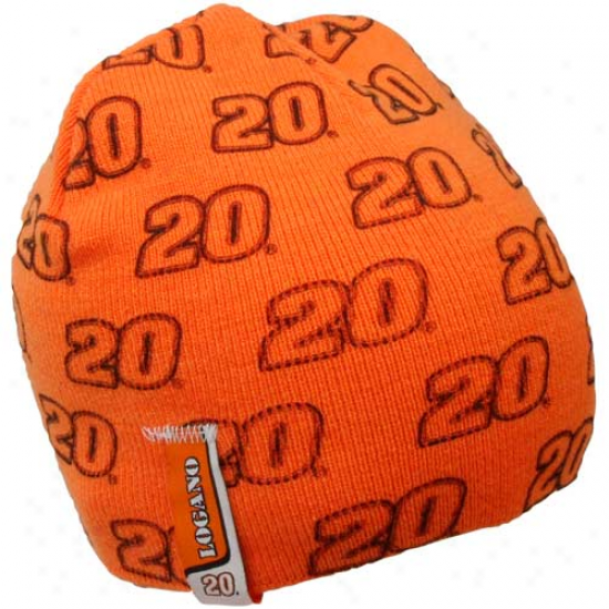 Chase Authentics Joey Logano Youth Orange Knit Beanie