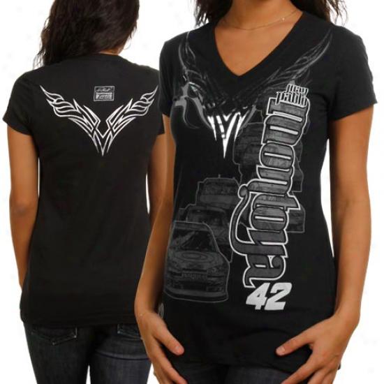 Chase Authentics Juan Pablo Montoya Ladies Foil Premium T-shirt - Black