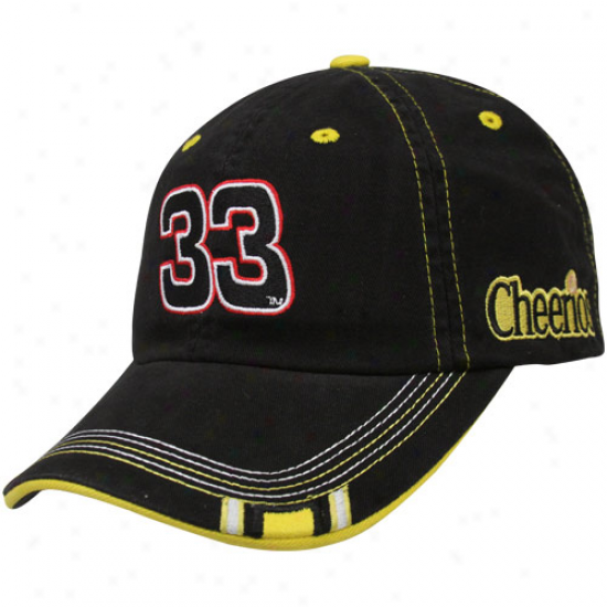 Checkered Flag Clint Bowyer Black Black Out Adjustable Hat