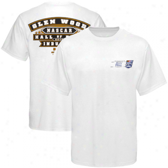 Checkered Iris Glen Wood Hall Of Fame Driver T-shirt - White