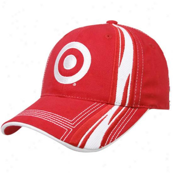 Checke5ed Flag Juan Pablo Montoya Red Speedway Adjustable Hat