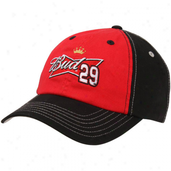 Checketed Flag Kevin Harvick Budweiser Fan Adjustable Cardinal's office - Red-black