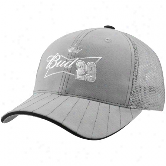 Checkered Flag Kevin Harvick Silo Adjustable Hat - Gray