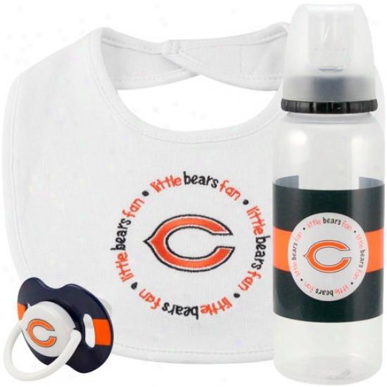 Chicago Bears 3-piece Pacifier, Bib & Bottle GiftS et