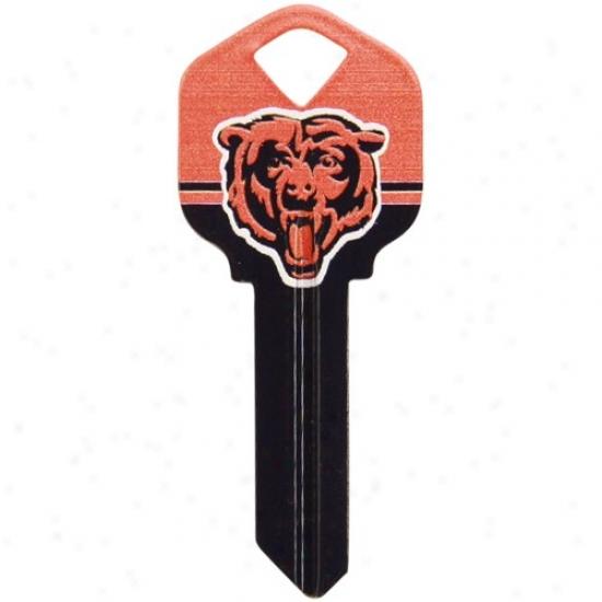 Chicago Bears Black-orange House Key