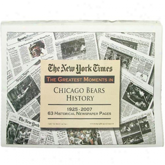 Chicago Bears Greatest Moments Newspaper