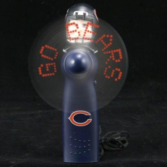 Chicago Bears Navy Blue Light-up Mimic Fan