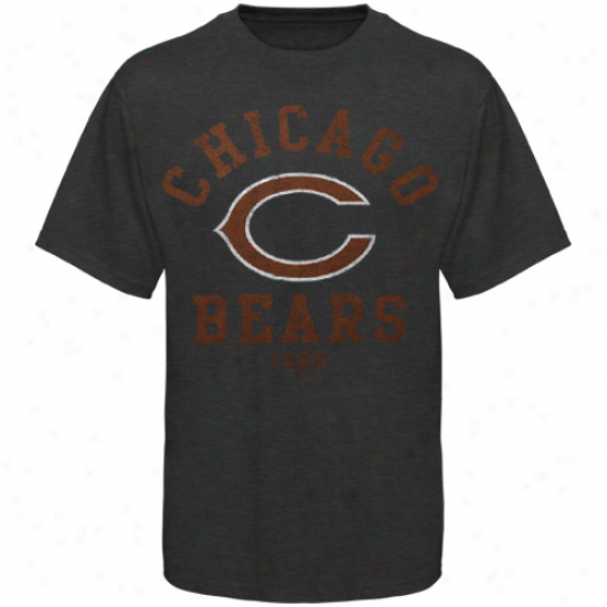 Chicago Bears Team Two Heathered T-shirt - Charcoal