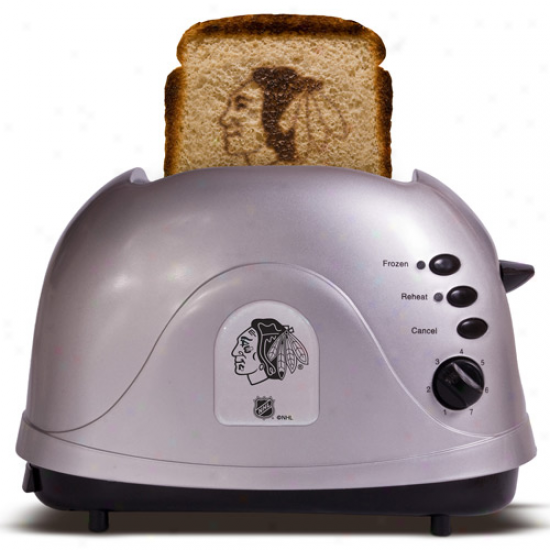 Chicago Blackhawks Silfer Tea Logo Pro Toaster