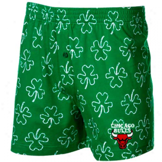 Chicago Bulls Kelly Green Limerick Boxer Shorts